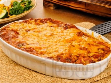 Кето запеканка с пилешко месо от гърди, крема сирене и карфиол - снимка на рецептата